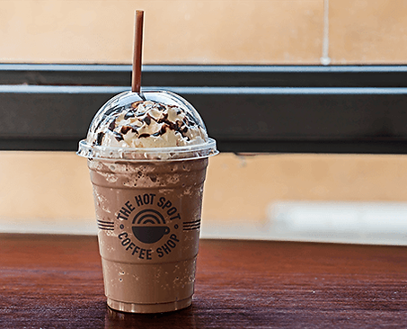 The Hot Spot Coffee Shop Packaging Mock Up Frappe Graphic Design Jake Bryant Creative