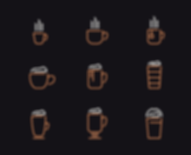 The Hot Spot Coffee Shop Icon Designs Graphic Design Jake Bryant Creatie
