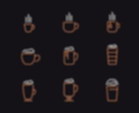 The Hot Spot Coffee Shop Icon Designs Graphic Design Jake Bryant Creatie