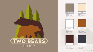 Two Bears Diner Brand Identity