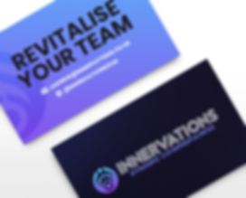 Innervations Dynamic Co/Mindfulness Business Card Designs Graphic Design Jake Bryant Creative