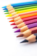 Row of Colored Pencils