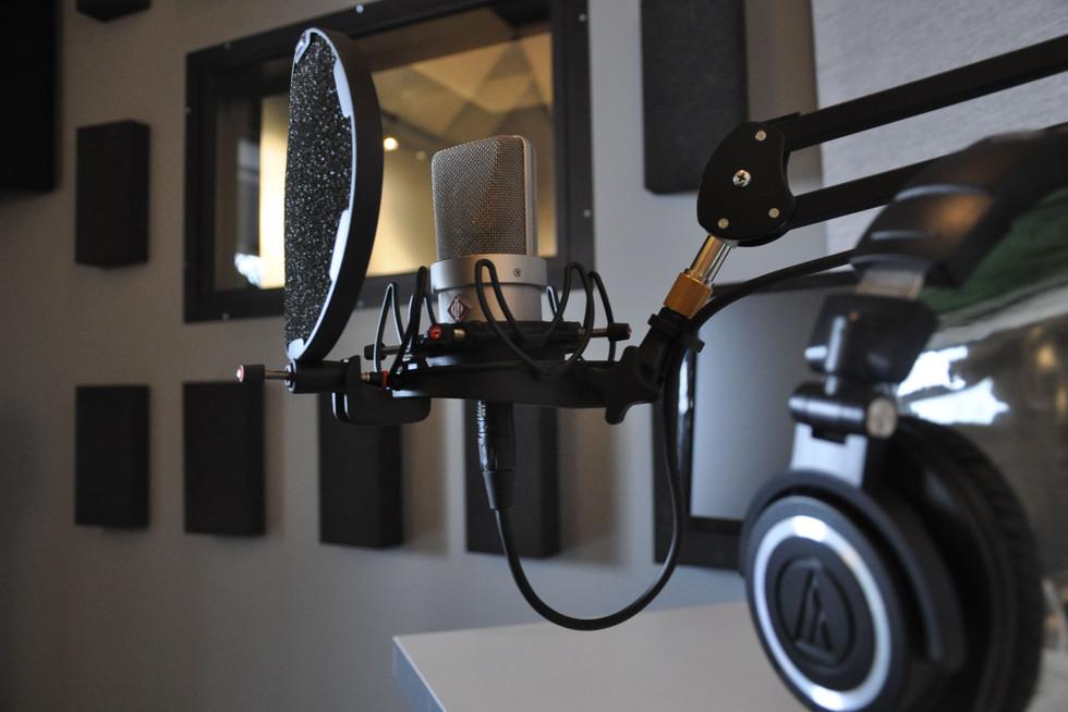 Booth d'enregistrement vocal