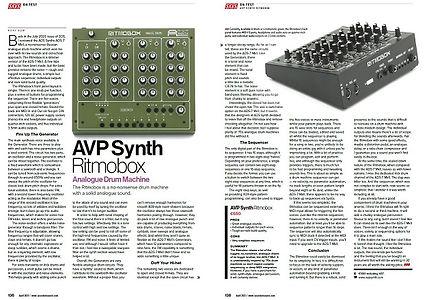 AVP Synth Ritmobox SOS mag 04.21 review