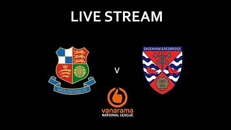Match Poster WFC V Dagenham & Redbridge