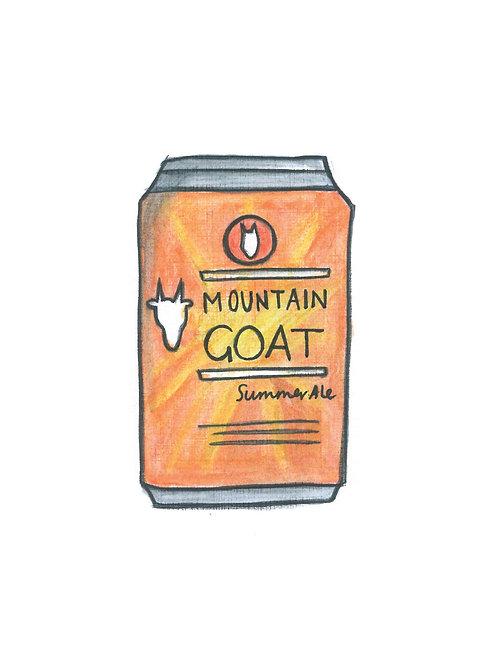 Mountain Goat Tinnie Print