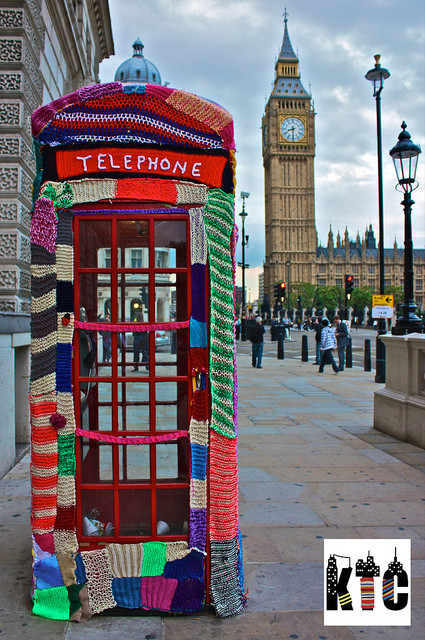 YarnBomb London Phone Booth