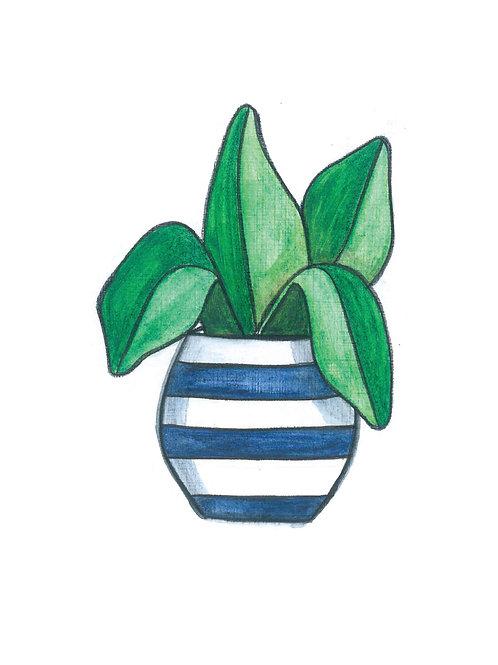 Botanical Pot Print