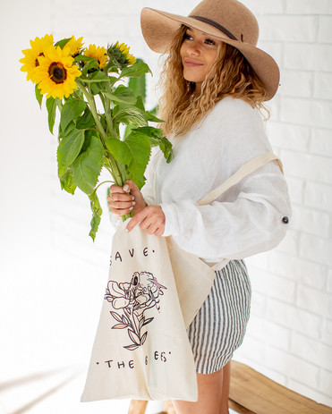 Save The Bees Shopping Tote