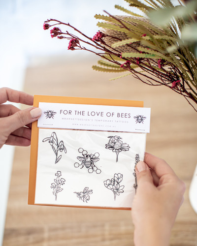 Bee Temporary Tattoos
