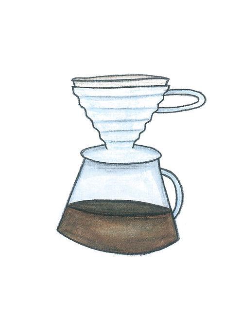 V60 Coffee Brewer Print