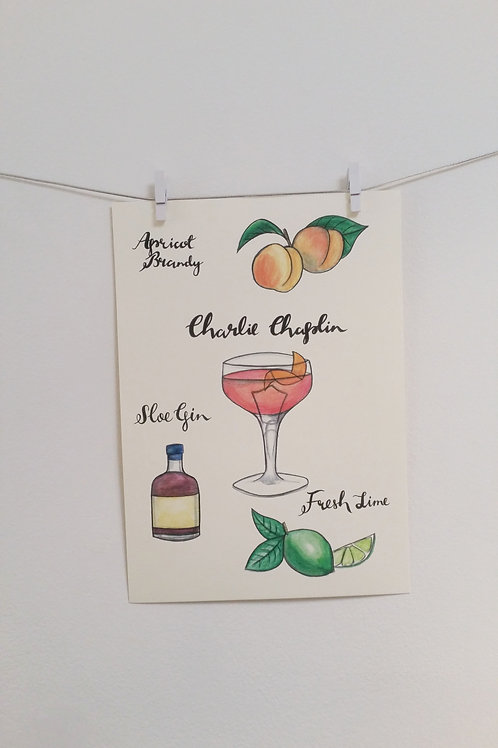 Charlie Chaplin Illustrated Recipe