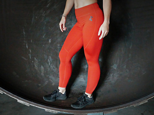 Basic legging fire red