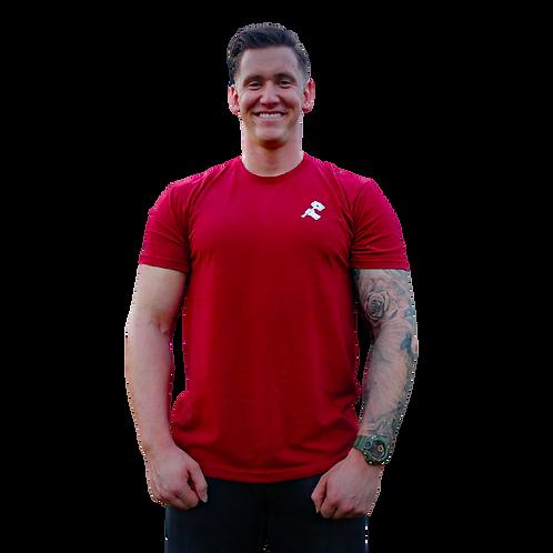 Basic T-shirt Bordeaux red