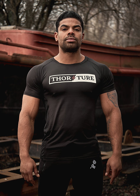 Athletic sportshirt black