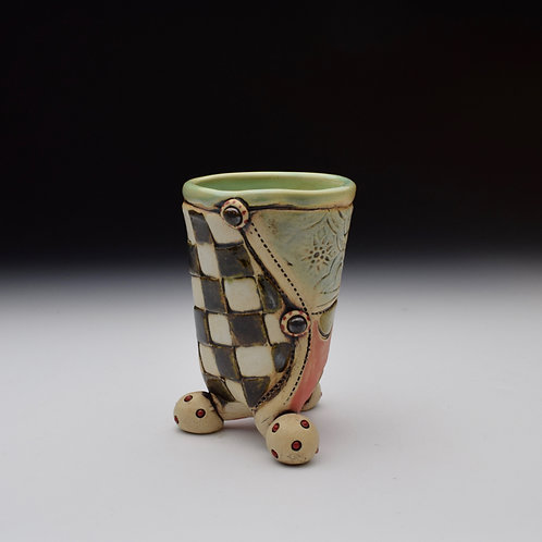 Checkerboard Patchwork Cup