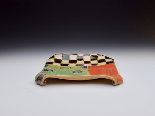 *Seconds* Patchwork Spoon Rest Plate