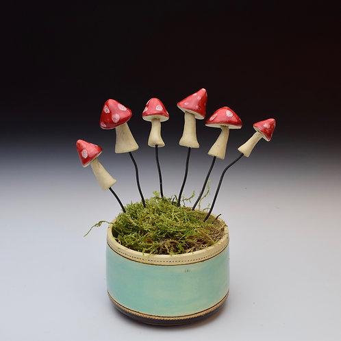 Mushroom Plant Stake