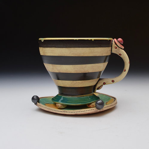 Whimsy Teacup with Saucer