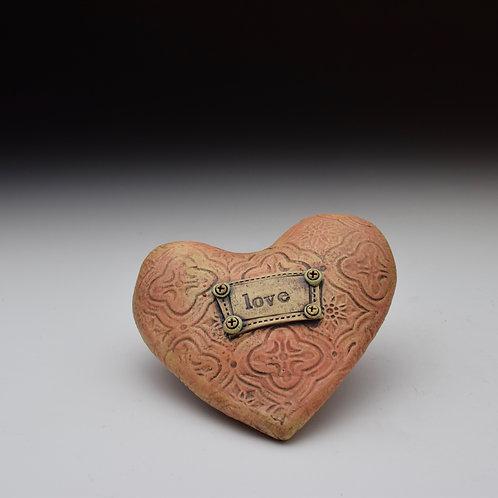 'Love' Pillow Heart