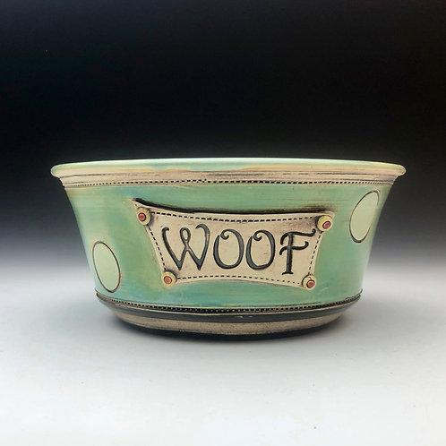 Mint Dot Doggie Bowl