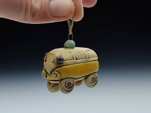 Itty Bitty Bus Ornament (Yellow)