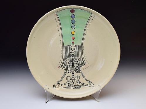 Chakra Yogi Skeleton Plate