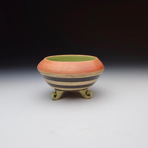Pink n' Stripes Scroll Bowl