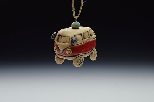 Itty Bitty Bus Ornament (Red)