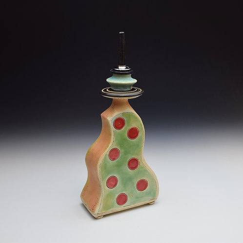 Red Dot Squiggle Oil Pourer