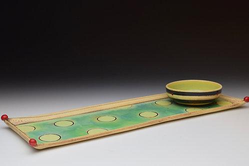 Playful Polka Dot Tray and Dish