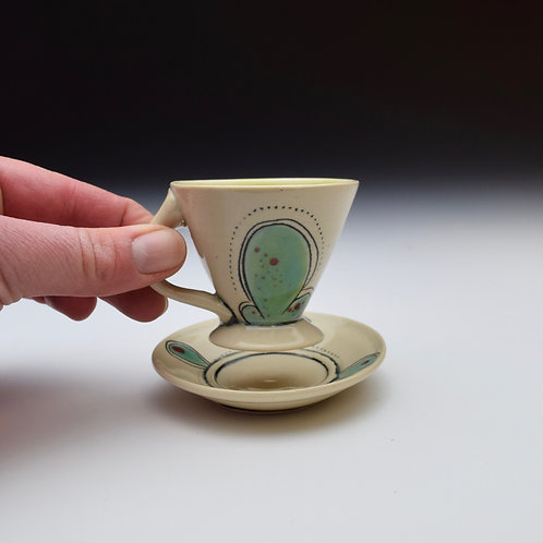 Tiny Teacup and Saucer