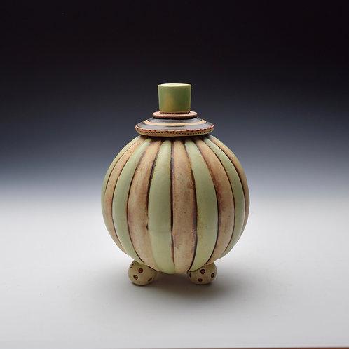 Stripy Ball Bud Vase