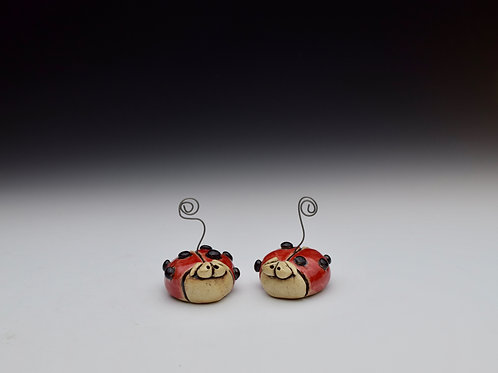 Lady Bug Buddies Picture/ Note Holder Pair
