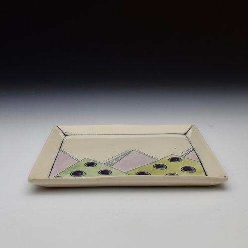Polka Dot Mountains Plate- Purples