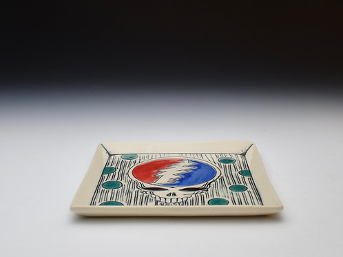 Teal Dot Grateful Dead Plate
