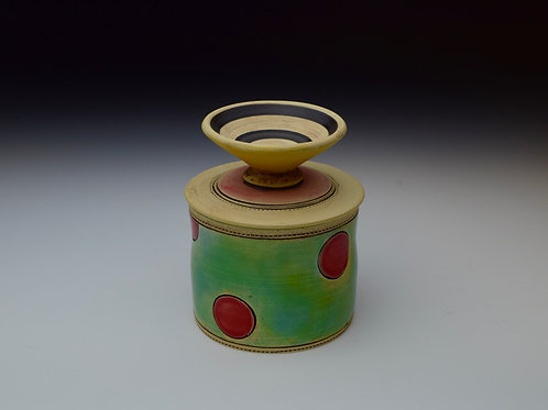 Red Polka Dot Butter Keeper