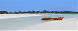 White Sand Beach Fishing Boat