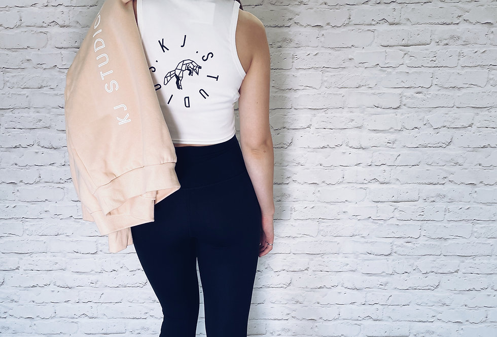 High Neck Cropped Tee