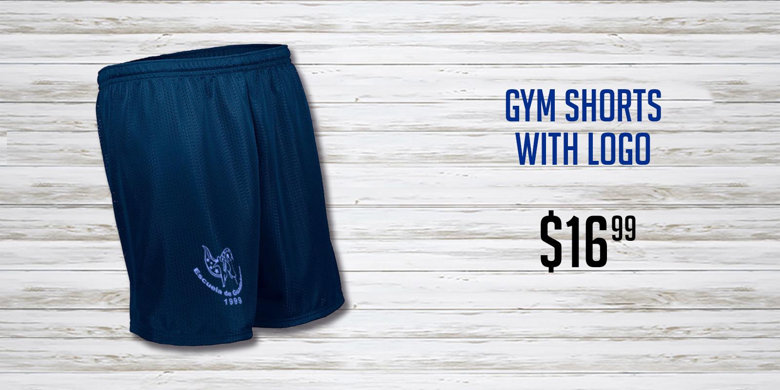 Escuela de Guadalupe Navy Gym Shorts NEW
