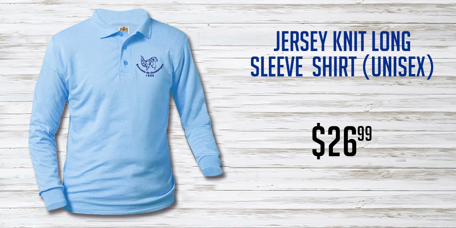 Escuela de Guadalupe Blue Jersey Knit Lo