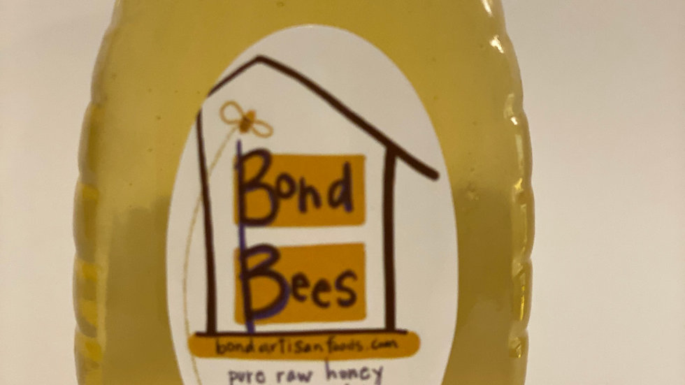 1/2 lb. Glass Jar of Pure Raw Unfiltered Honey