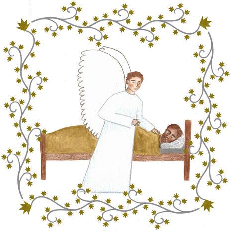 The angel Gabriel visits Joseph in a dream