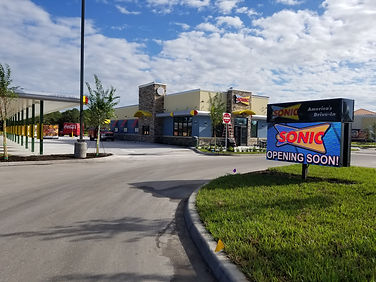 Parking lot of Sonic location in Lakeland, Florida