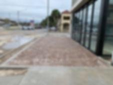 Pavers going in at new Starbucks location in Jonesville, Florida