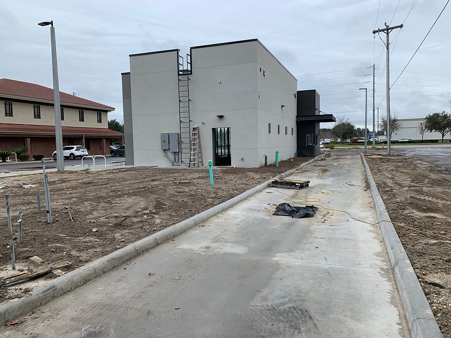 Pinnacle Site Solutions completed the drivethru for the new Starbucks Coffee in Jonesville, Florida