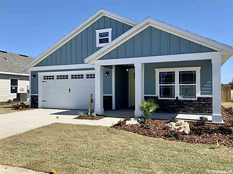 New house at Grand Oaks subdivision in Markets West in Gainesville, Florida