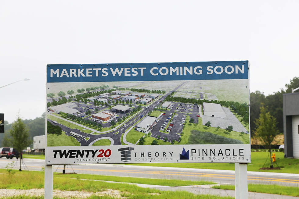 Markets West coming soon sign in Gainesville, Florida