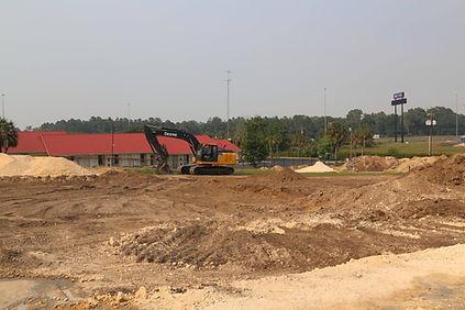 Ellisville Truck Stop parking lot construction
