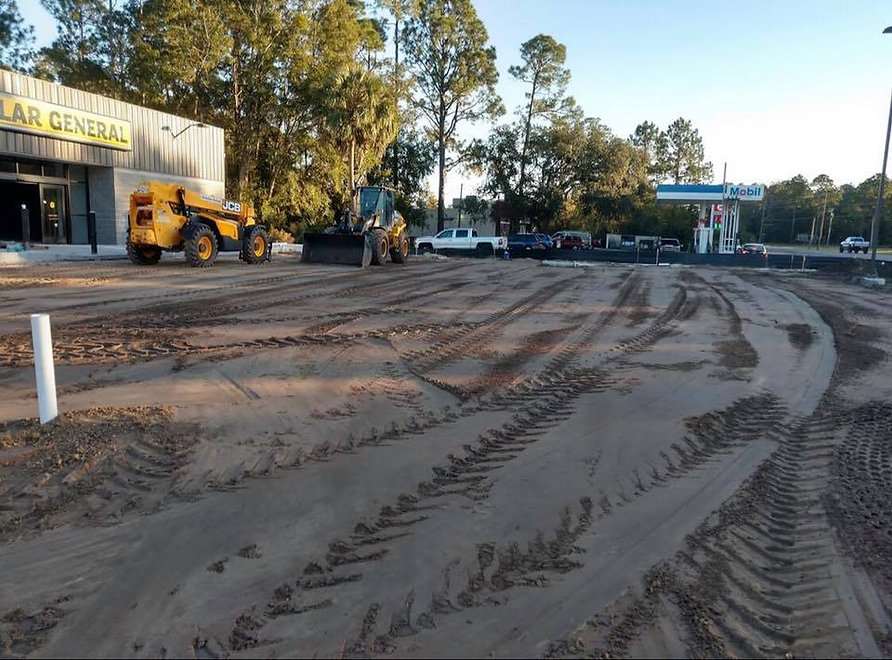 Parking lot construction for Dollar General